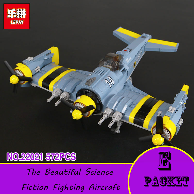 Lepin 22021 Technical Series The Beautiful Science Fiction Fighting Aircraft Set Building Blocks Bricks Funny Toys Model Gift ynynoo lepin 02043 stucke city series airport terminal modell bausteine set ziegel spielzeug fur kinder geschenk junge spielzeug
