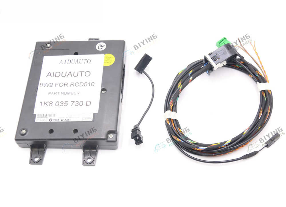 9W2 Bluetooth Module+Harness With Microphone 1K8 035 730 D For VW Golf MK6 Jetta MK5 Fit RCD510