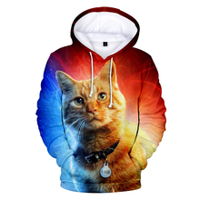 2019 Hoodies 3D Carol Danvers Cosplay Print Goose Long Sleeve Women and men Clothes Hot Sale Casual Plus Size 4XL