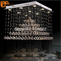Promotion Sales New Pyramid Modern Rectangular Crystal Chandelier Living Room Chandelier Crystal Lighting Free Shipping