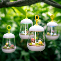 Creative Birdcage LED Music Box Night Light USB Rechargeable Touch Dimmer Table Bird Light Portable Nightlamp