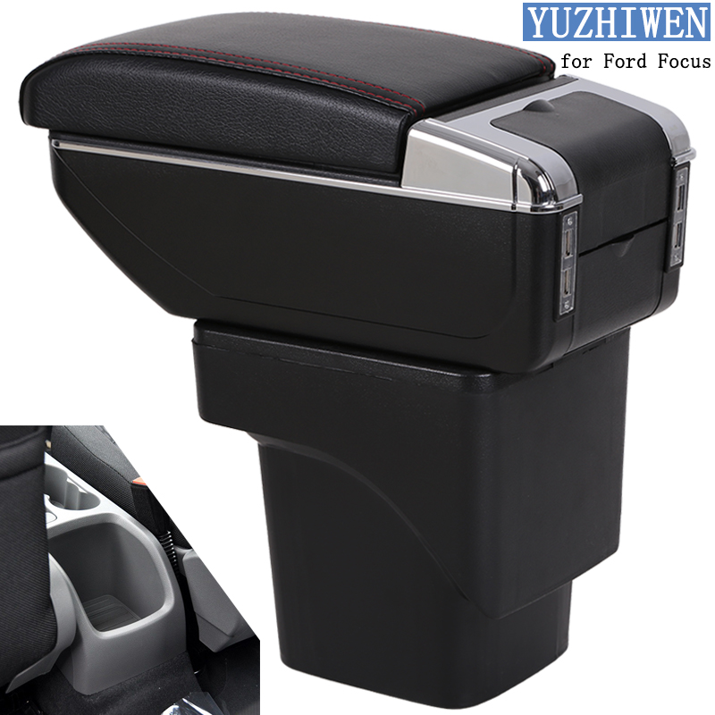 For Ford Focus Armrest Box Ford Focus 2 Universal Car Central Armrest Storage Box cup holder ashtray modification accessories for suzuki jimny armrest box jimny2007 2018universal car central armrest storage box cup holder ashtray modification accessories