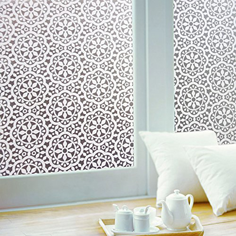 PVC Glass Sticker Home Decoration Windows Adhesive Removable Accessories