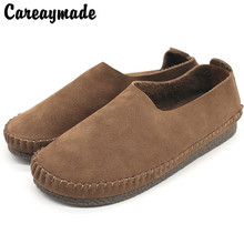 Careaymade-New Spring Factory Handmade Cowhide Leather,Retro-classic Literature and Art,Leisure Soft-soled Women's Shoes