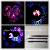 2 Pcs 40 Pixels Poi Full Color LED Stick Programmable Nunchuck Usb Graphic Poi Performances Show Wand DHL Free Shipping