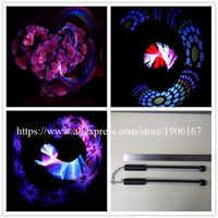 Ein paar 40 Pixel Poi Volle-Farbe LED Stick Programmierbare Nunchuk Usb Grafik Poi Leistungen Zeigen Zauberstab DHL Freies verschiffen