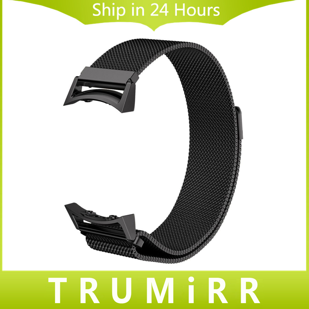 Milanese Loop Watch Band with Adapters for Samsung Gear S2 SM-R720 / SM-R730 Stainless Steel Strap Magnetic Buckle Belt Bracelet nylon sports watch band strap adapters for samsung galaxy gear s2 r720 watch band tools for samsung galaxy gear s2 r720
