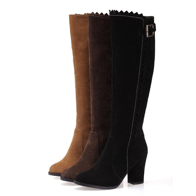 Image 4 - 2017 Winter Boots Botas Mujer Shoes Women Boots Fashion Motocicleta Mulheres Martin Outono Inverno Botas De Couro Femininas 721bota de couro femininabotas mujerbotas de couro -