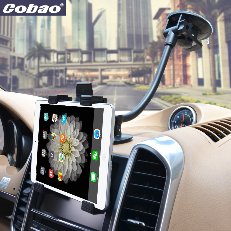 Universal Tab Car Holder Tablet Windshield Stand Mount Long Arm Support Holders 360 Rotation with 5'' & 11'' Holder for Tablet