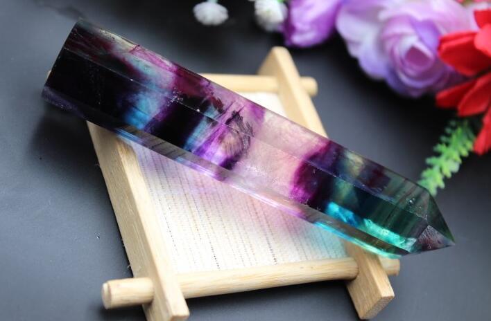 Təbii yaşıl flüorit kvars kristal - Ev dekoru - Fotoqrafiya 2