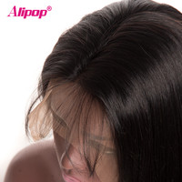 180% Density Malaysian Straight Lace Wig Full Remy Lace Front Human Hair Wigs ALIPOP Lace Front Wig With Baby Hair