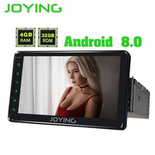 JOYING Single Din 7″ PX5 4GB Ram Head Unit Universal Android 8.0 Car Radio Stereo GPS Nagivation Support Zlink Tape Recorder
