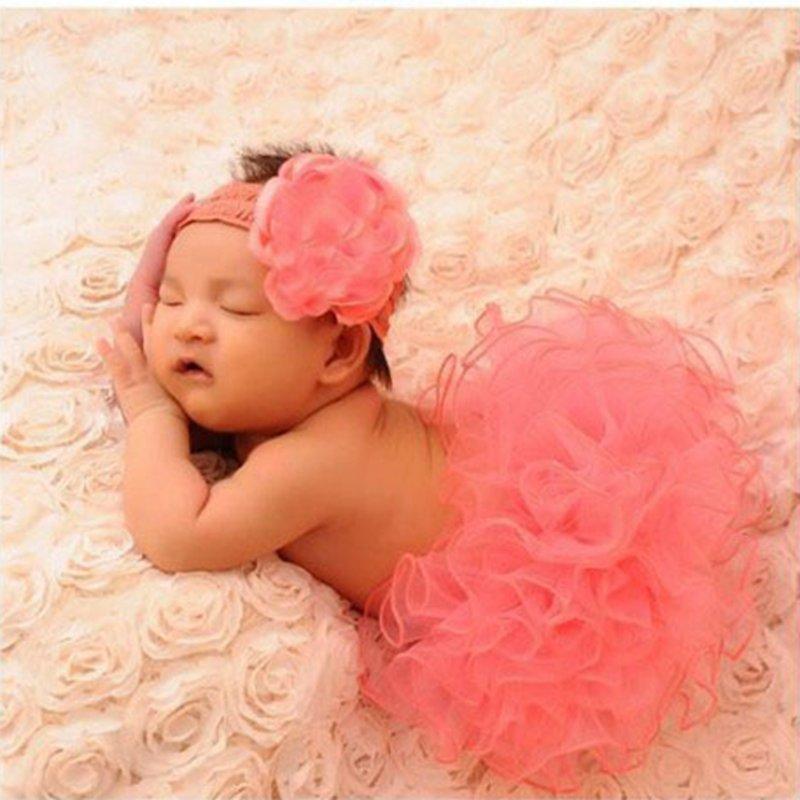 mode baby kjolar däck set nyfödda fotografering rekvisita - Babykläder