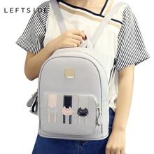 LeftSide 2017 школьные рюкзаки с рисунком милого кота дамы Sacs à DOS модные женские туфли Рюкзак Симпатичные Meninas Sacos для школы дорожные сумки