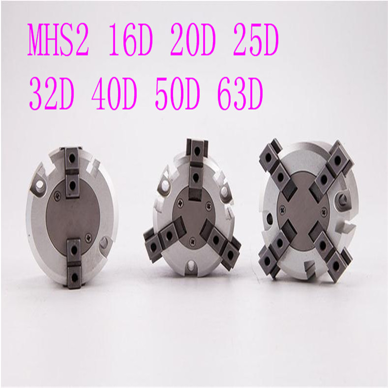 MHS2 16D 20D 25D 32D 40D 50D 63D Parallel Style Air Gripper 2 Finger Rotating Double Act Jaw Cylinder Bore 16 63mm in Valves Parts from Automobiles Motorcycles