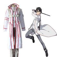 цена на Anime Sword Art Online Cosplay Costumes Kazuto Kirigaya Cosplay Costume Knights Of Blood Uniform Halloween Party Cosplay Costume
