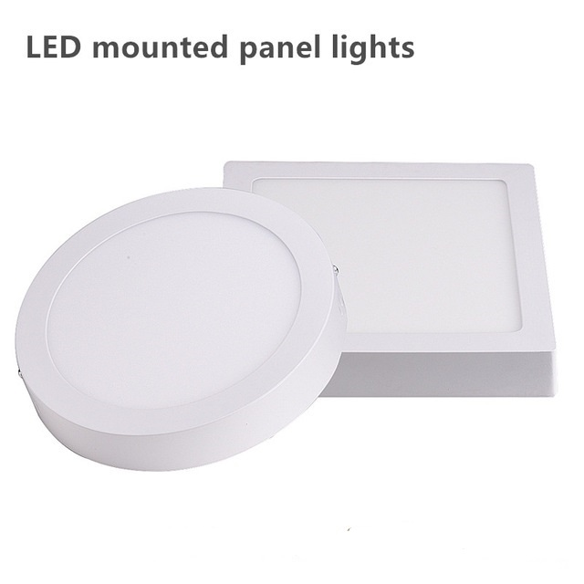 Surface Mounted Led Ceiling Down Light High Lumens 24w Led Panel Light With Driver 85-265v Indoor Led Light Ceiling Lights & Fans