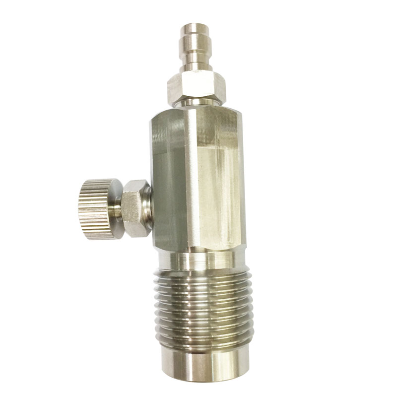 PCP Air Refill HP Fill Station 300Bar Din Valve G5/8 For Carbon Fibre Cylinder Filling Stainless Steel