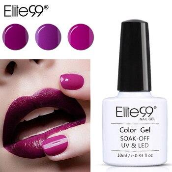 Elite99 10 ml Nagel Gel Tränken Weg UV Bunte Lila Nagel Farben Kunst Gel Nagellack langlebig gel Benötigen Basis und Top Mantel