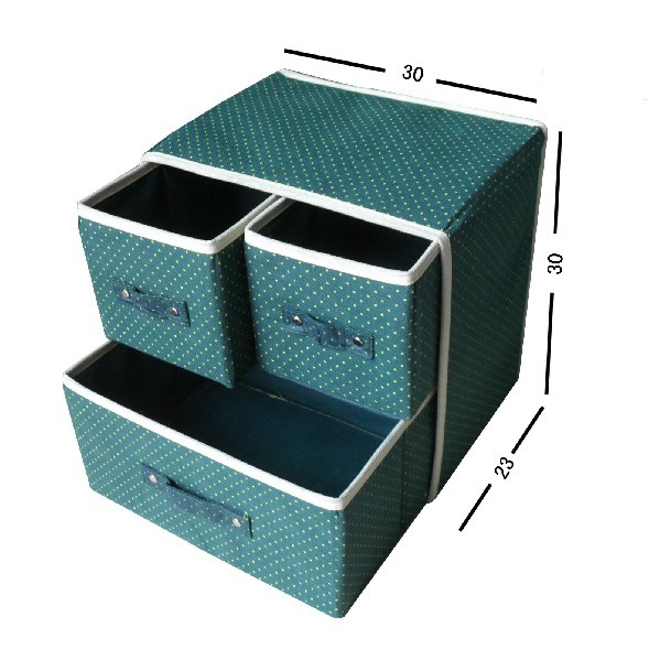 Beau [Free Shipping] 8 Colors Non Woven Fabric Box With Three Drawers Design,