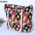 Portable Folding Shopping Bag Women Shoulder Crossbody Bags Fashion Bolsa Feminina Summer Beach Handbags Brand Tote