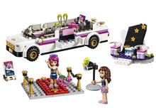 265PCS New 10405 Girl Friends Series DIY Building Blocks Pop Star Limo kids Bricks toys Gift Compatible With 41107 for children bela friends 3189 girl mia farm stables building bricks blocks set gift toys for children compatible with lepine friends