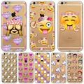 New Case For Apple iPhone 6 6S Plus 6Plus 4 4S 5 5S SE 5C Funny Smile Face Facebook Emoji Painted Soft TPU Silicon Cases Cover