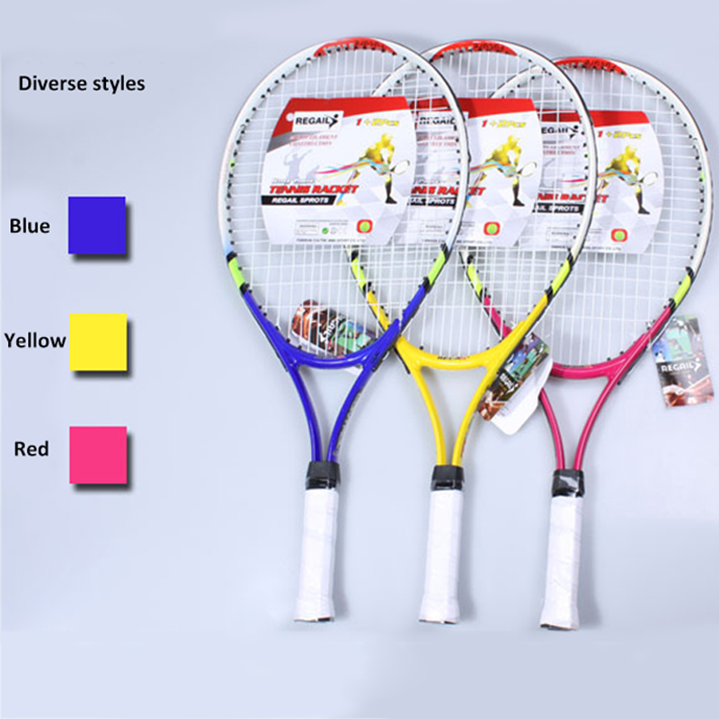 1pcs High Quality New Junior Tennis Racquet Raquette Training Racket For Kids Youth Childrens Tennis Rackets With Carry Bag Hot