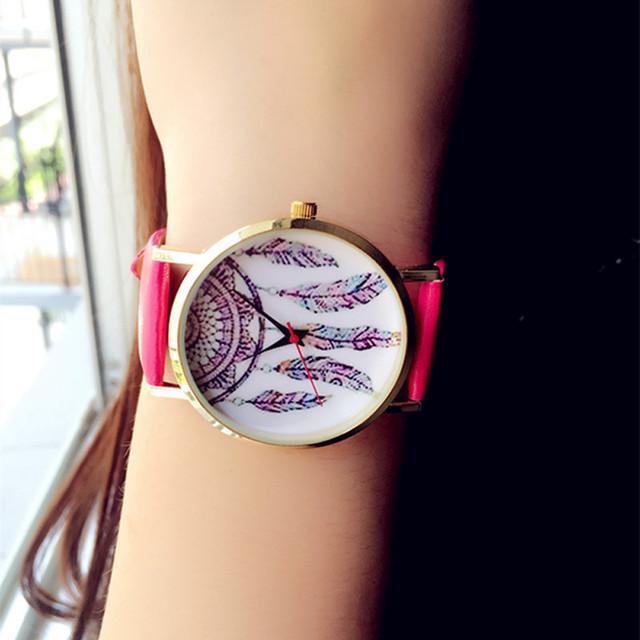 Women Fashion Dreamcatcher Watch Ladies Quarzt Watches relogio feminino  Relogios Masculinos