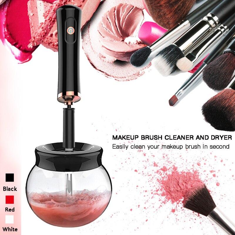 Limpiador de pinceles de maquillaje eléctrico y práctico limpiador de cepillos de maquillaje máquina herramienta de limpieza