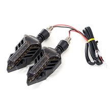1 Pair Motorcycle LED Turn Signal Lights Amber Lamp Left Right Signals Indicators Universal For Honda