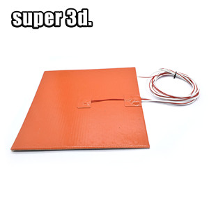 Image 3 - Silicone Heated Bed Heating Pad Waterproof 220/300x300/310/235/400 mm 12V/220/110 V for 3D printer Ender 3 cr10 Parts hot bed