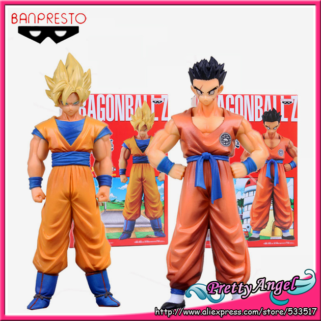 Japanese Original Banpresto Dragon ball Z Kai Super Structure Concrete Collection Vol.5 Super Saiyan Son Gokou & Yamcha Figure original banpresto world collectable figure wcf the historical characters vol 3 full set of 6 pieces from dragon ball z