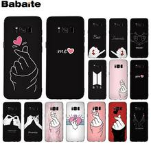 Babaite EXO kpop Heart Drawing Special Offer Luxury Phone Case Cover For Samsung GALAXY s5 s6 edge edge plus s7 edge s8 plus s9(China)