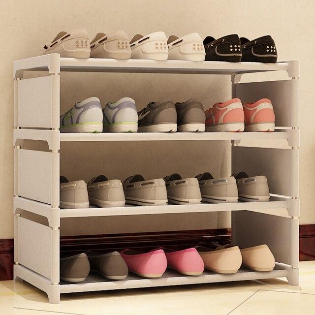 Great Multifunction DIY Simple Combined Shoe Shelf Shoe Cabinet Storage Organizer  Thick Shoe Racks #236469