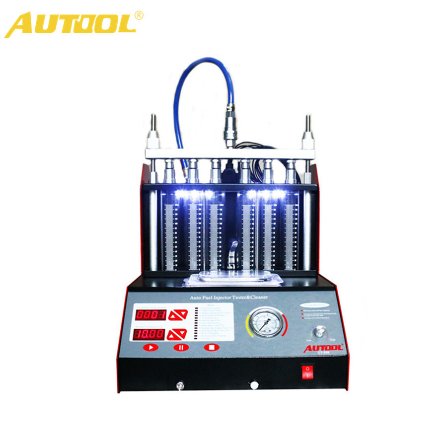 цена на AUTOOL CT200 Ultrasonic Fuel Injector Cleaner & Tester Support 110V/220V with English Panel