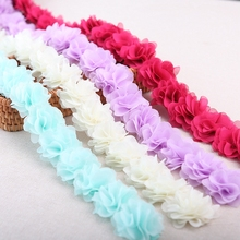 Lace Fabric 26PCS/Lot 16 Colors Dress Harness Decorate Ribbon Polyester Flower Garment Accessories 1905014