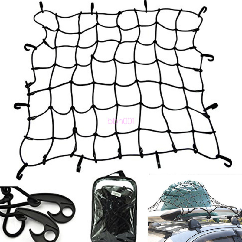 Car Van Roof Top Rack Cover Network Luggage Carrier Cargo Basket Elasticated Net