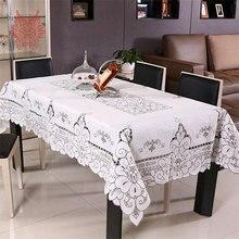 Pastorale style vente chaude Table Tissu Percé À Manger Couverture De Table Textile de Maison blanc chemin de table SP1503