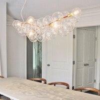 Nordic светодиодный прозрачное стекло пузырь люстра лампы современных DIY дома деко Гостиная Подвеска E27 лампы винограда люстры свет