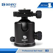 Benro joby b3 rótulas de bola para benro trípode de cámara profesional de aluminio de doble acción ballheads cargamento máximo 20 kg de dhl libre nave