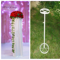 Free Shipping White Wedding Hook Road Lead Frame Flower Holder Wedding Column Flower Stand Party Props