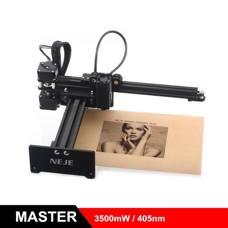 2019 NEJE MASTER 3500mW 405nm Laser Engraving Machine DIY Laser Engraver Wood Cutting Machine 3D Printer Support Windows IOS