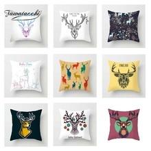 Fuwatacchi Animal Cushion Cover Multi Deer Snow  Soft Throw Pillow Decorative Sofa Case Pillowcase