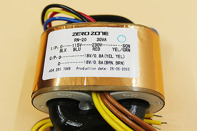 ZERO-ZONE 30VA R-core Transformer 115/230V to 0-18V 0-18V 1A XWJ noratel toroidal seal tokon transformer double 30w 18v 30va
