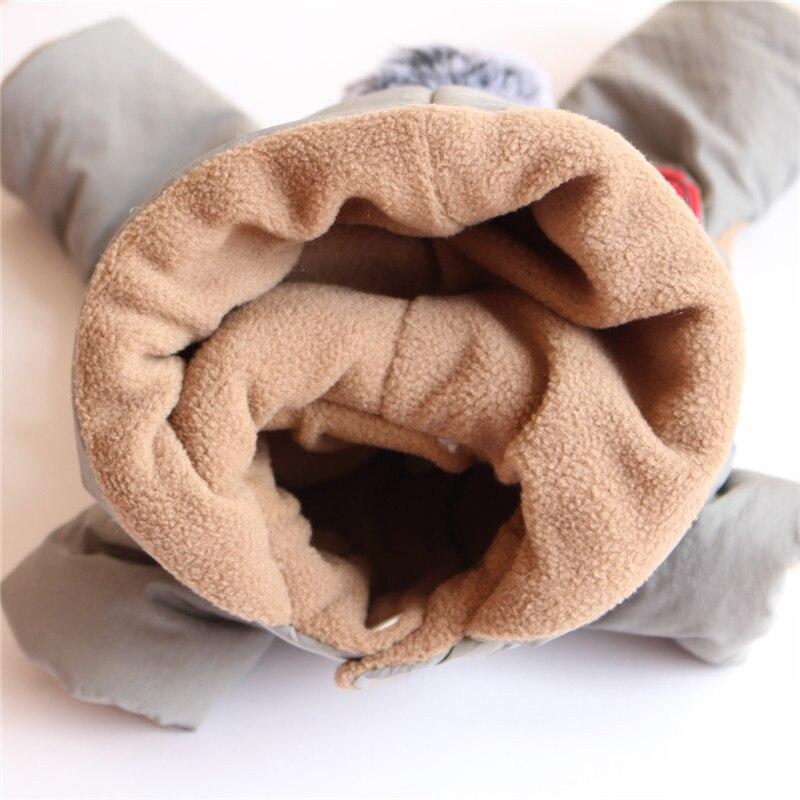 Зимний флисовый комбинезон для собак, лыжная одежда, куртка с хлопковой подкладкой для собак и кошек, пальто, одежда для домашних животных, теплая одежда для собак и щенков, комбинезон с капюшоном-3