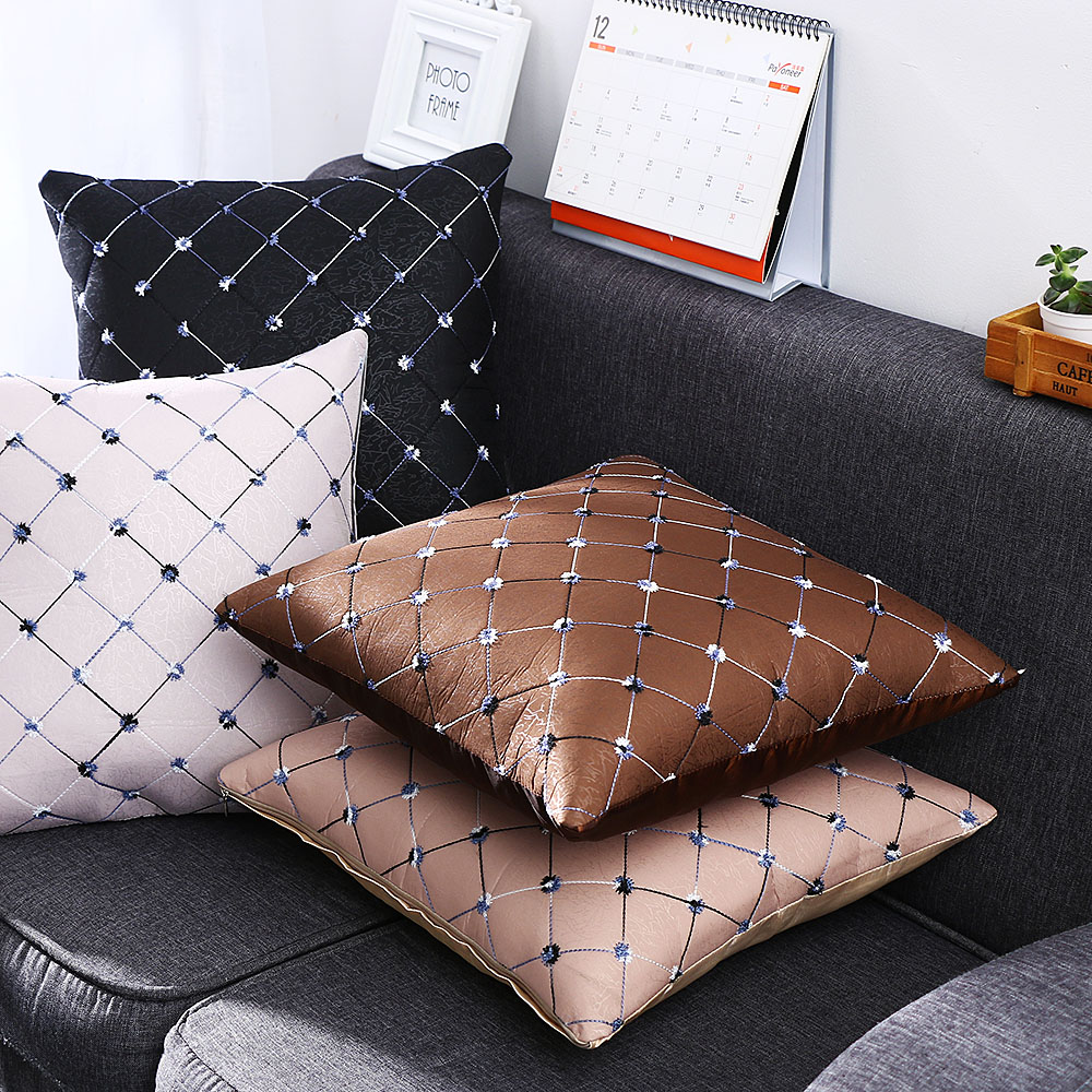 Cushion-Case Throw-Pillow Sofa Square Home-Decor Multicolored Grid 1PC Bed Washable High-Quality