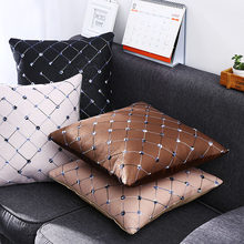 1PC Grid Bed Sofa Throw Pillow Cushion Case Home Decor Square Washable Multicolored High Quality Home Decor(China)