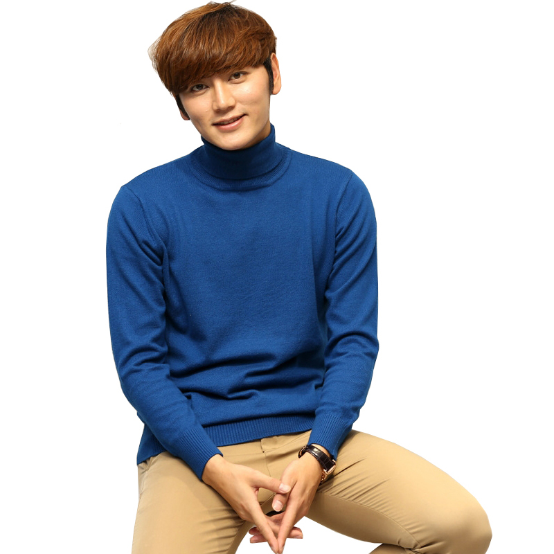 2019 New Autumn Winter Thick Warm Wool Cashmere Sweater Men Turtleneck Mens Sweater Fit Pullover Wool Knitwear Pull Homme Jumper