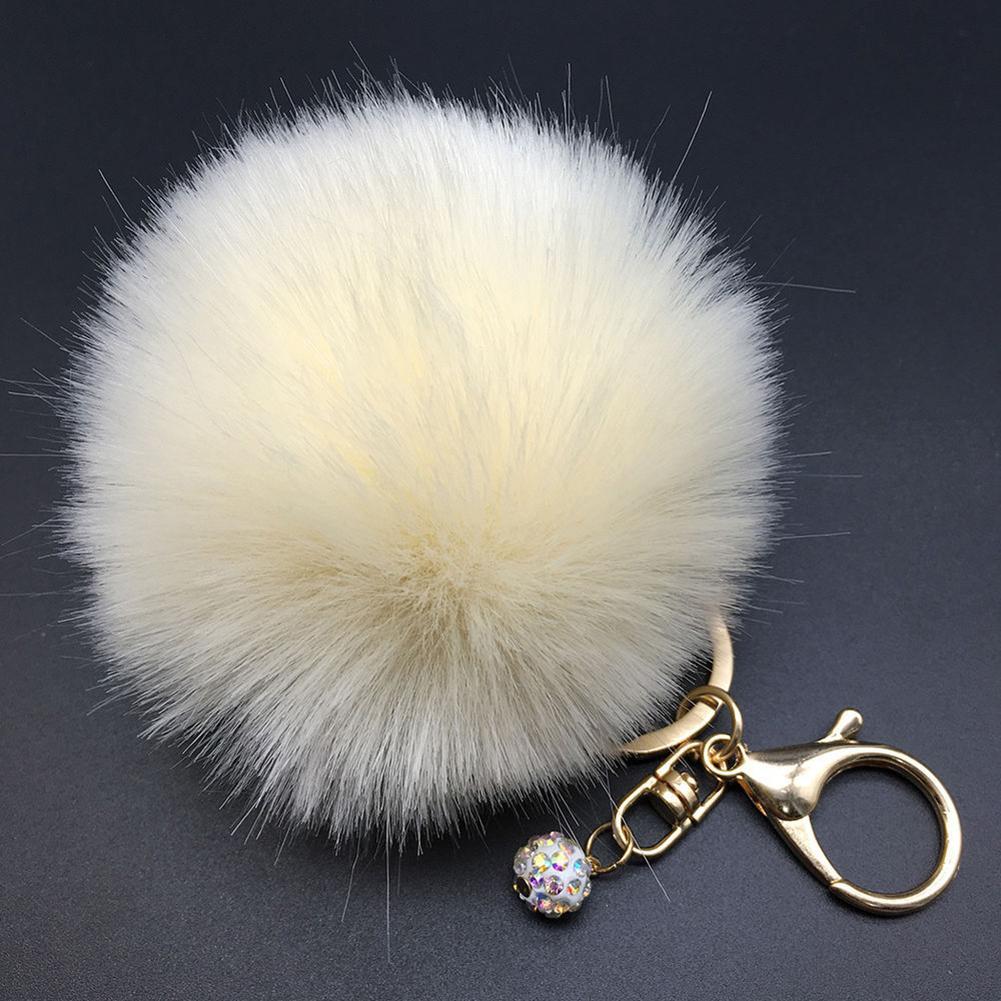 Fashion Faux Fur Fluffy Pompom Ball Car Pendant Handbag Charm Bags Decoration Ornament